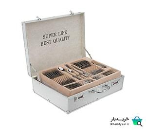 لیست قیمت ۲۵ مدل سرویس قاشق چنگال زیبا و پرفروش بازار