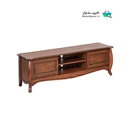 ۳۰ مدل از جدیدترین میز تلویزیون چوبی قهوه ای و شیک + [خرید و ارسال رایگان]